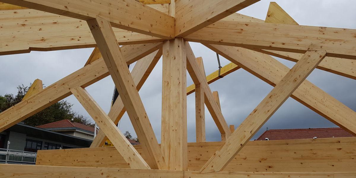 Toiture une pente exemples de chantiers de toitures en for Changement de pente de toiture