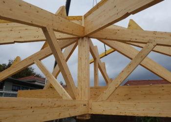 Ecole - charpente mixte lamelé collé et bois massif - 2