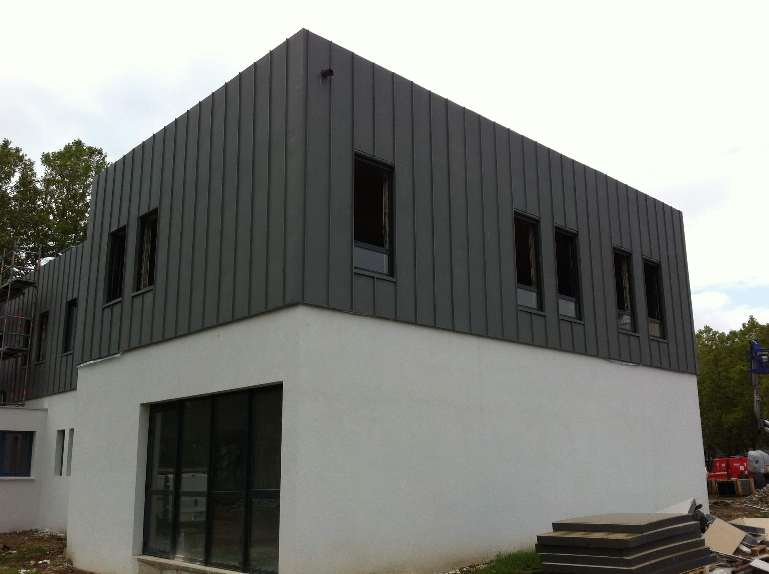 maison ossature bois bardage zinc ventana blog. Black Bedroom Furniture Sets. Home Design Ideas