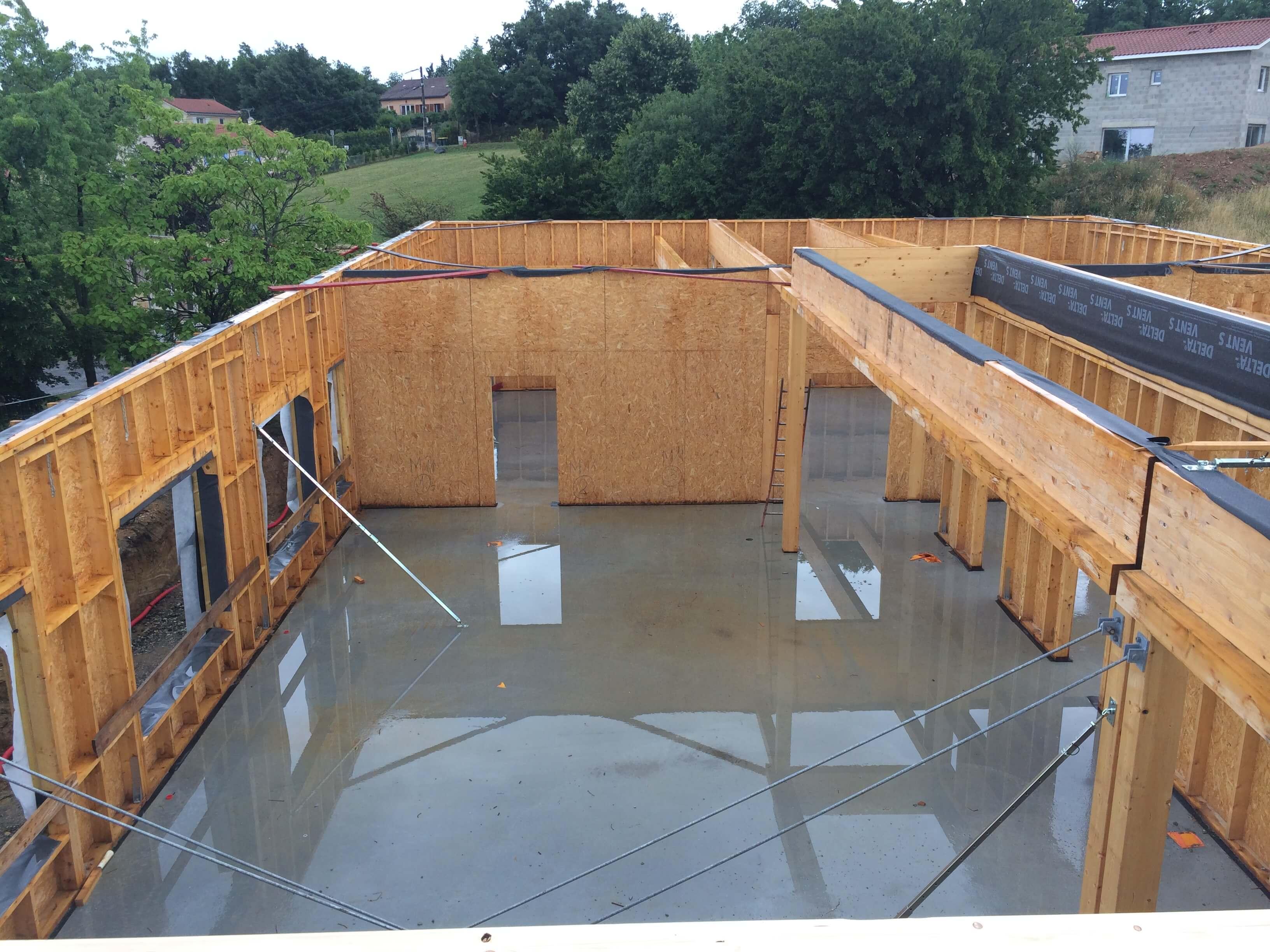 Construction bois maison moderne for Construction garage bois