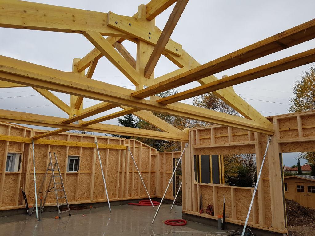 construction d une maison en ossature bois sur la commune. Black Bedroom Furniture Sets. Home Design Ideas