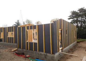 maison particulière - murs ossature bois avec pare-pluie